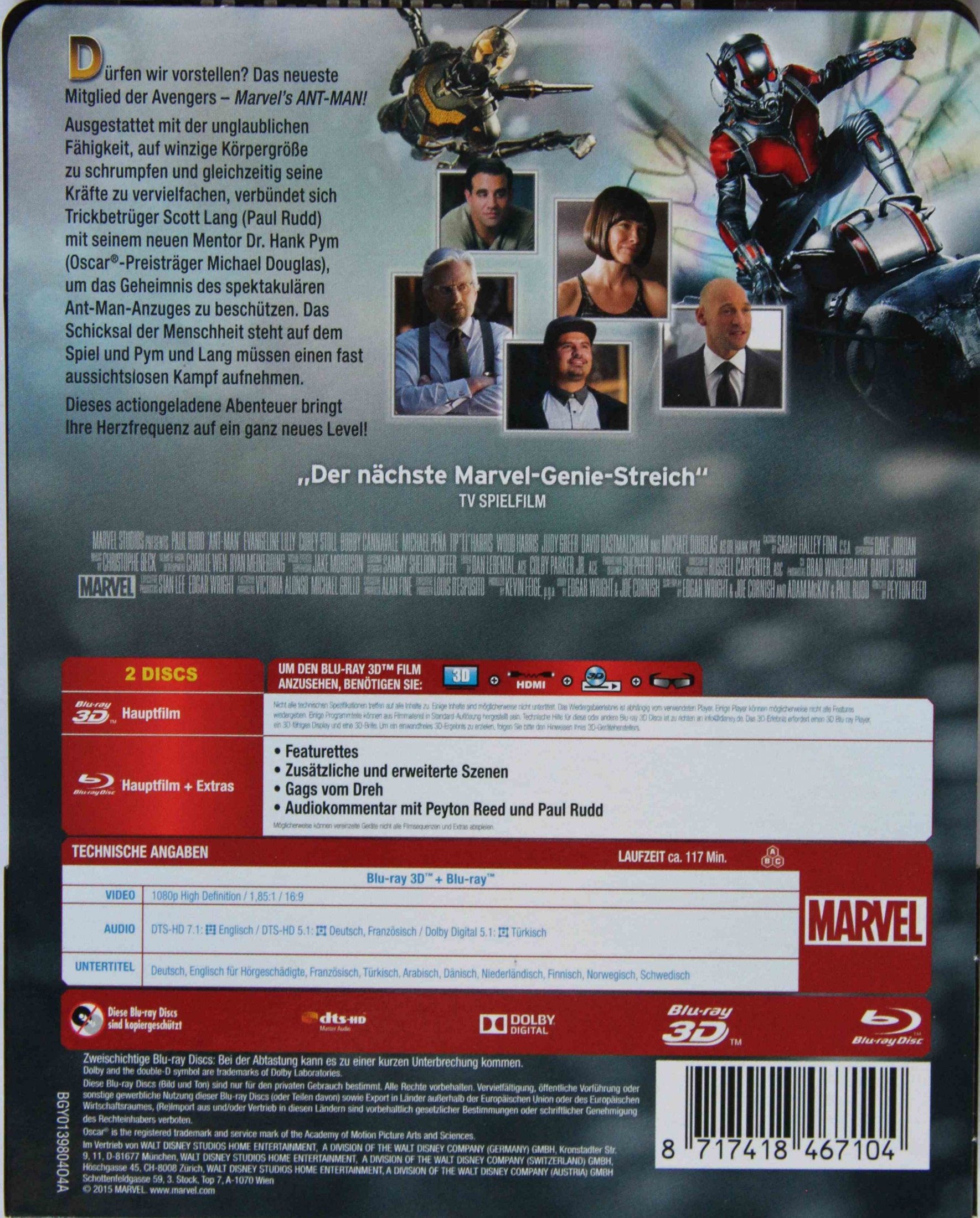Ant-Man Steelbook Paperback Rückseite