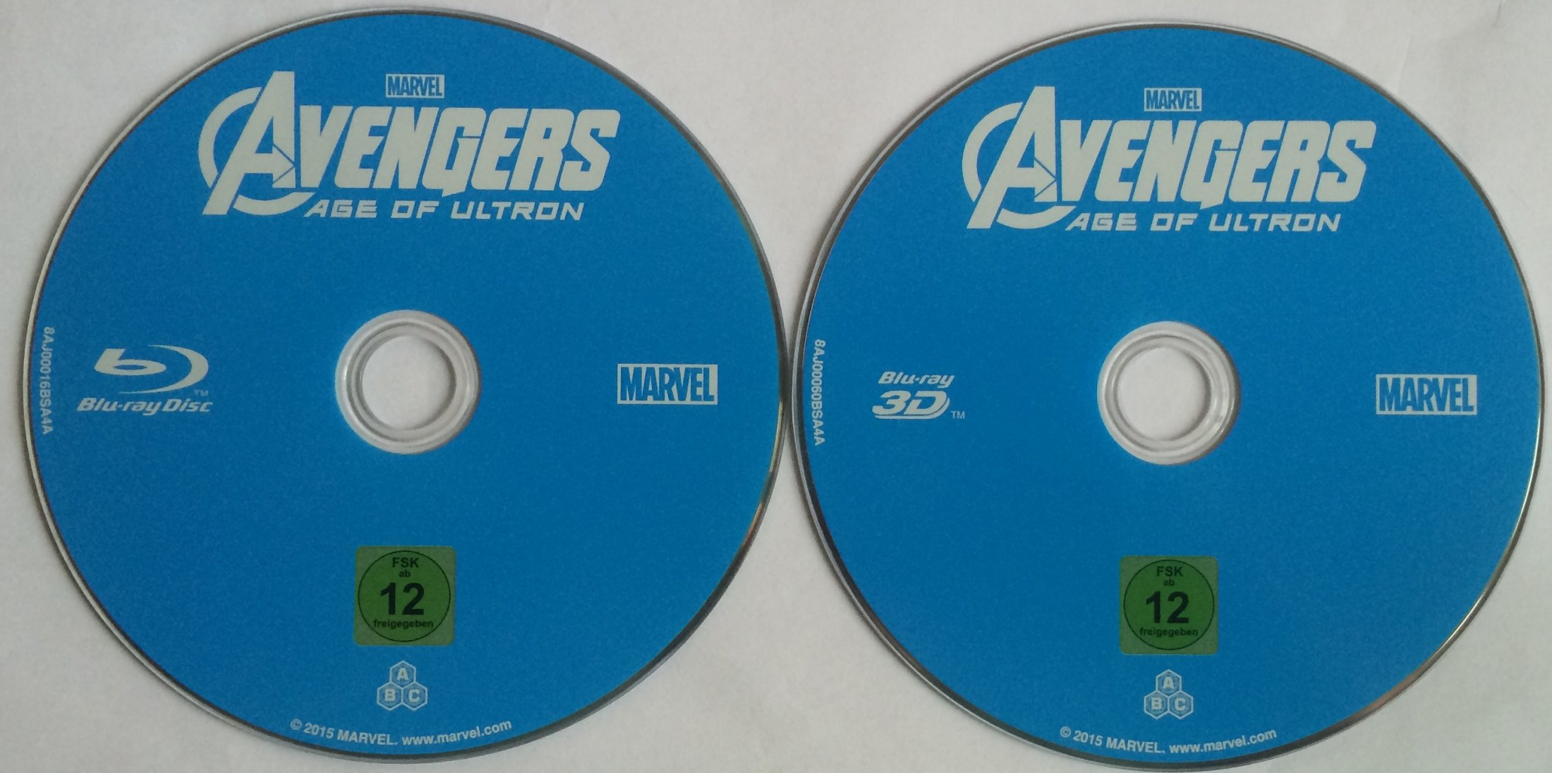 Avengers Age of Ultron Disks