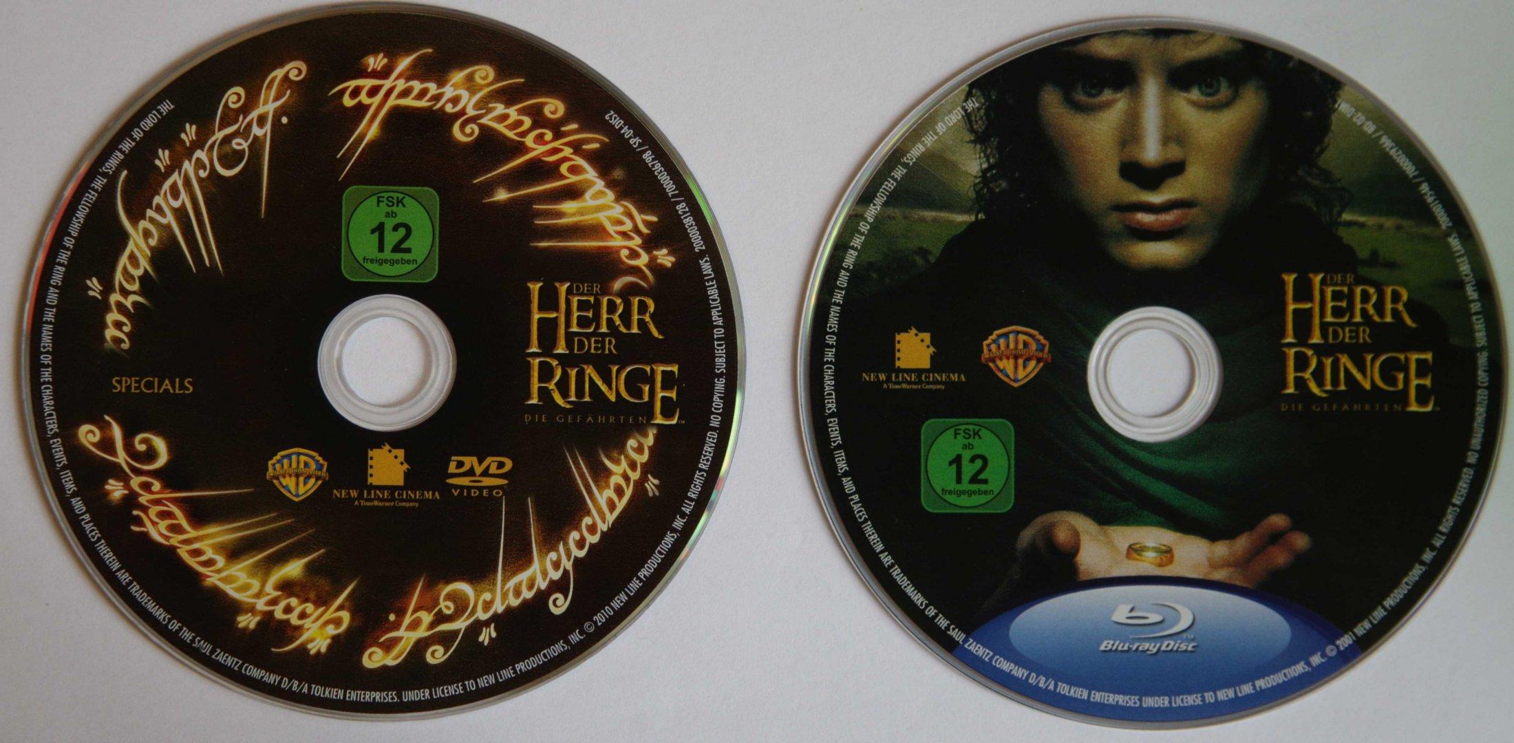 Der Herr der Ringe 1 Disks