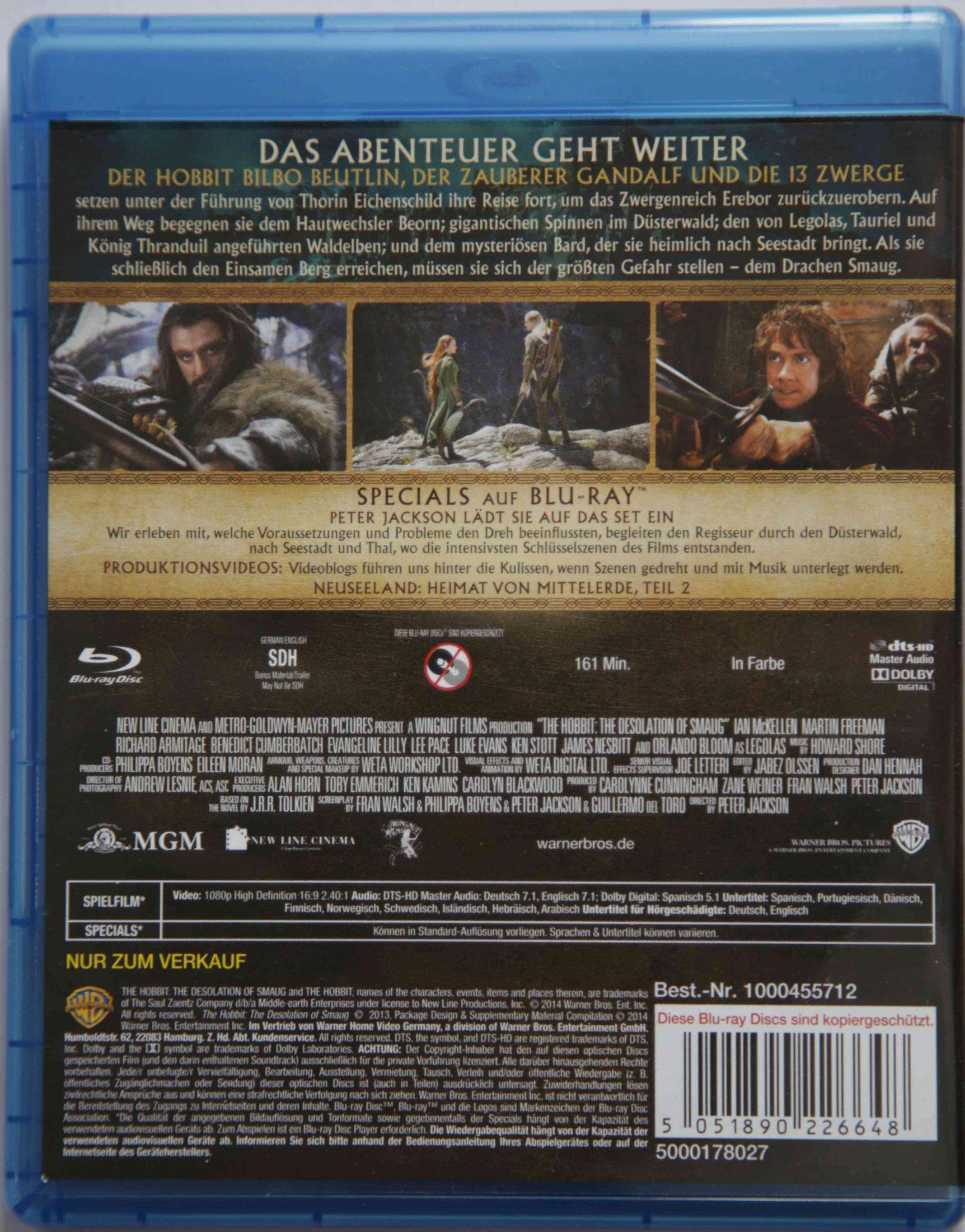 Der Hobbit - Smaugs Einöde Back