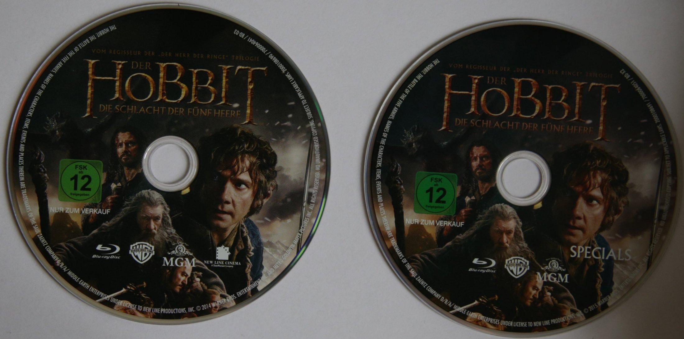 Der Hobbit Trilogie 3Disks