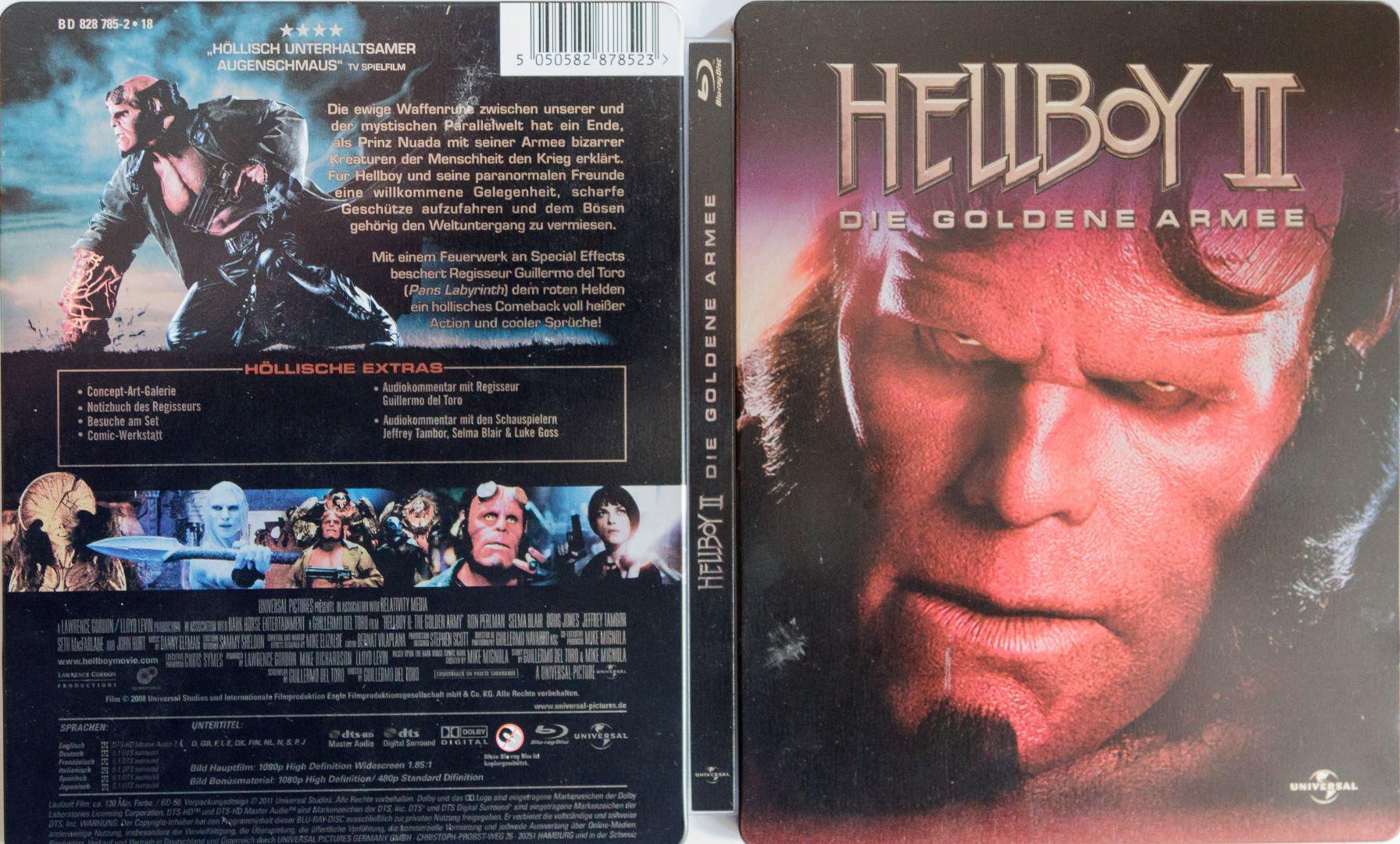 Hellboy II Steelbook aussenseite