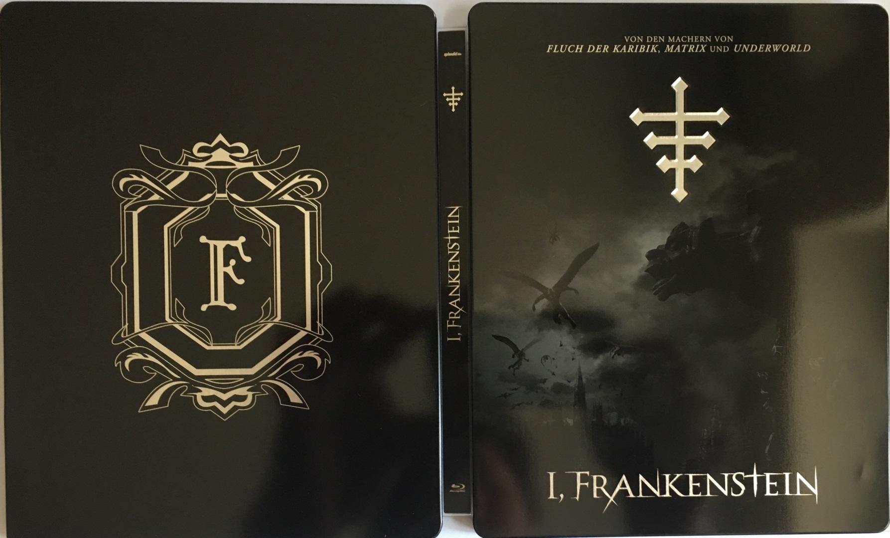 I, Frankenstein Steelbook Back komplett