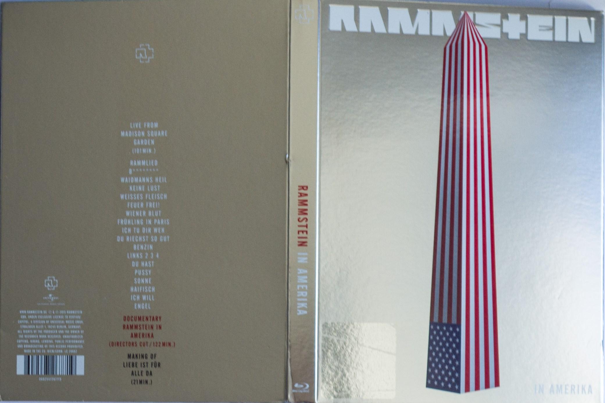 Rammstein in Amerika Rückseite komplett
