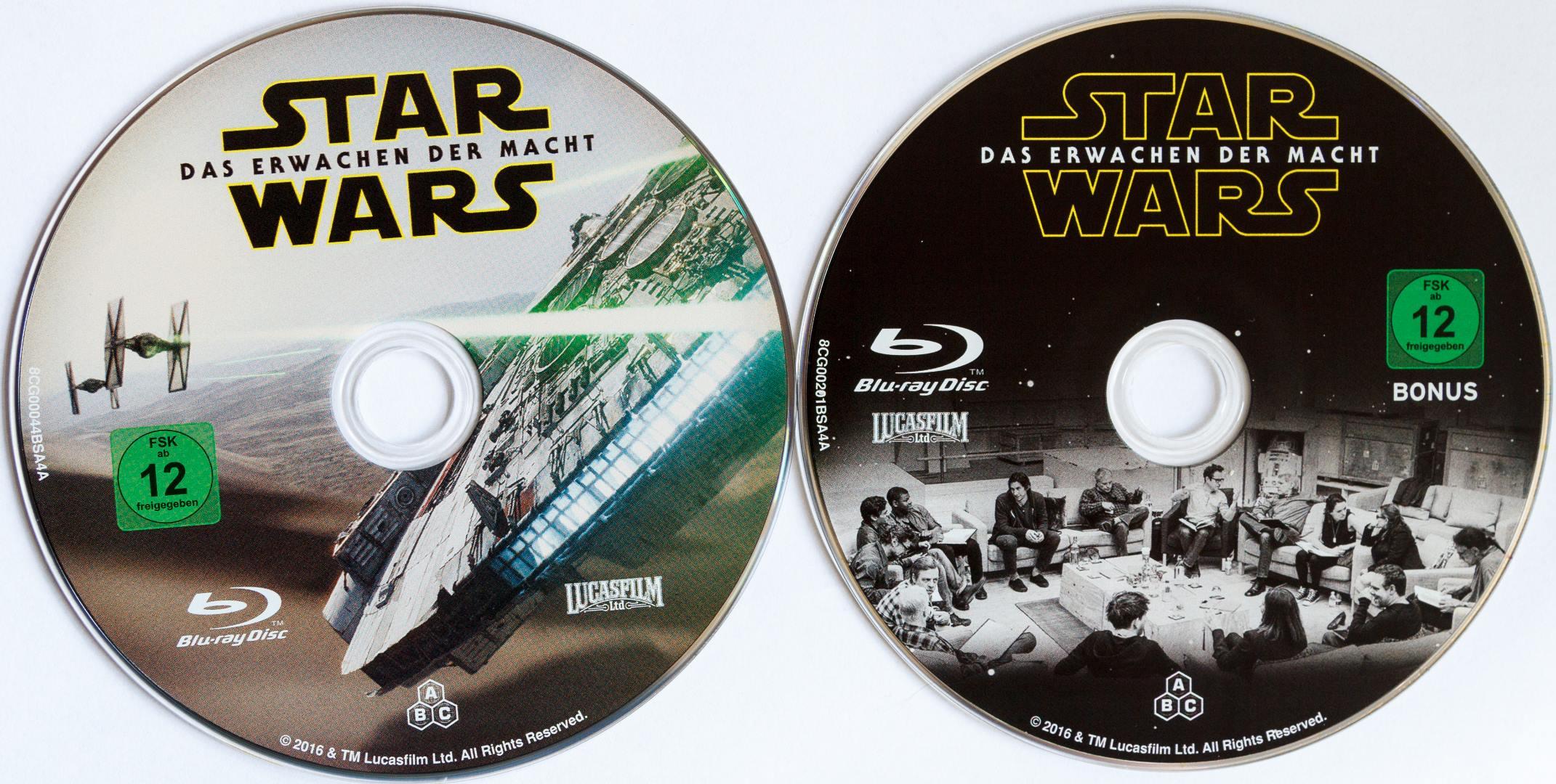 Star Wars 7 Steelbook Disks