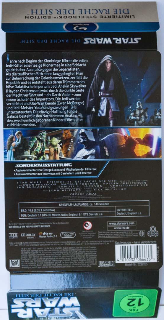 Star Wars Episode III Steelbook01