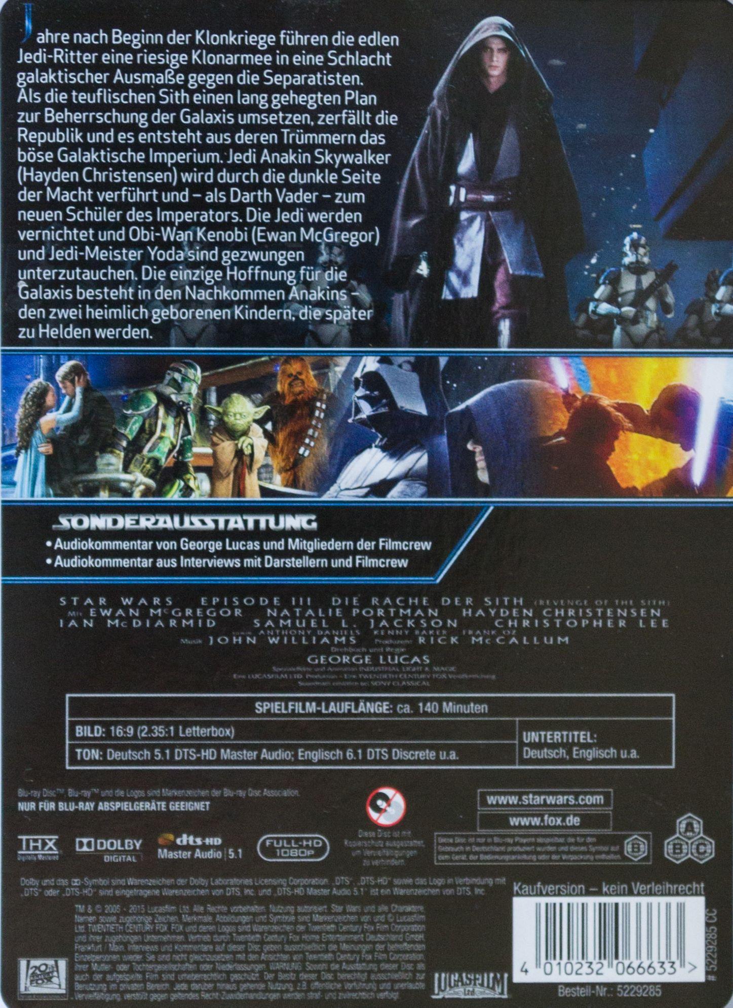 Star Wars III Back
