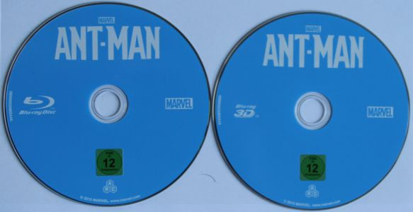 Ant-Man Steelbook Disks