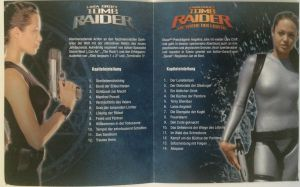 Lara Croft Collectors Booklet Innenseite