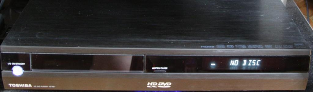 Toshiba HD-XE1, der Verlierer im Kampf um das Format für Full HD macht haptisch und optisch immernoch eine gute Figur